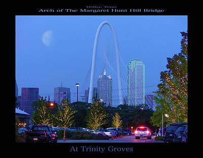 Photograph - Margaret Hunt Hill Bridge - At Trinity Groves Poster by Robert J Sadler