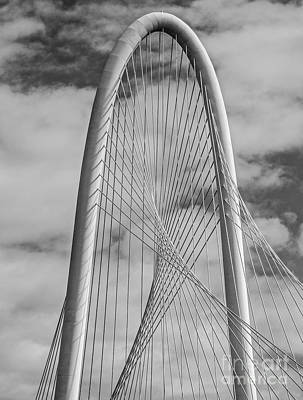 Cities Photograph - Margaret Hunt Hill Bridge Bw by Tod and Cynthia Grubbs