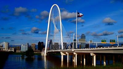 Photograph - Margaret Hunt Hill Bridge Dallas Flood by Kathy Churchman