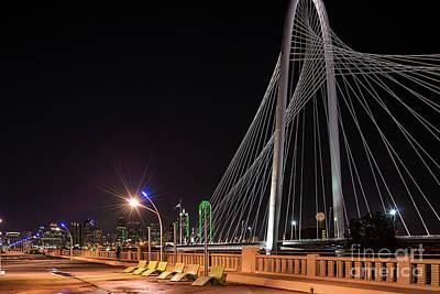 Dallas Skyline Photograph - Margaret Hunt Hill Bridge Dallas by Tod and Cynthia Grubbs