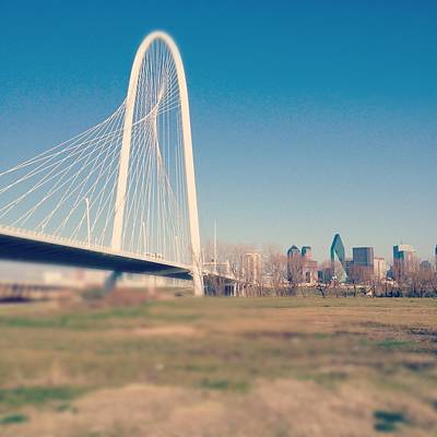 Gulf Images Photograph - Margaret Hunt Hill Bridge by David Kozlowski