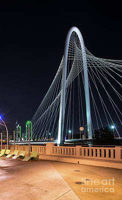 Dallas Photograph - Margaret Hunt Hill Bridge In Dallas by Tod and Cynthia Grubbs
