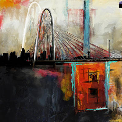Painting - Margaret Hunt Hill Bridge by Mawra Tahreem