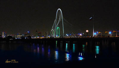 Photograph - Margaret Hunt Hill Bridge Over Flooding Trinity River by Robert J Sadler