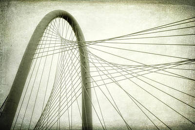 Dallas Photograph - Margaret Hunt Hill Bridge Shooting Upwards by Joan Carroll
