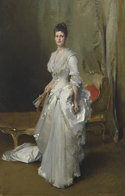 White Daisy Painting - Margaret Stuyvesant Rutherfurd White by John Singer Sargent