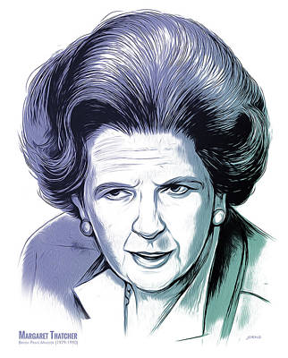 Mixed Media Royalty Free Images - Margaret Thatcher Royalty-Free Image by Greg Joens