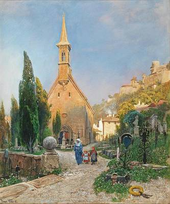 St Margaret Painting - Margarets Chapel In St Peters Cemetery by MotionAge Designs