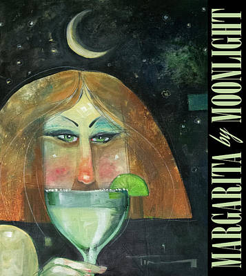 Painting - Margarita By Moonlight Poster by Tim Nyberg