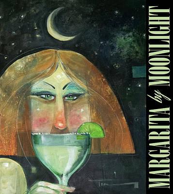 Margarita By Moonlight Poster Art Print