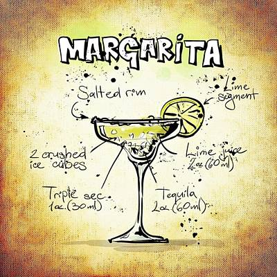 Drunk Mixed Media - Margarita by Movie Poster Prints