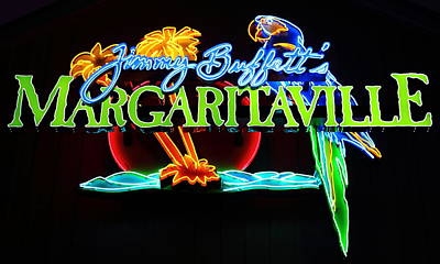 Photograph - Margaritaville Neon by Larry Beat