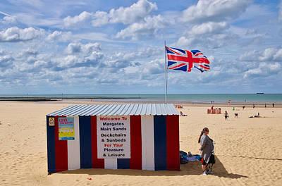 Jack Kent Photograph - Margate Beach British Flag by Scott Oliver