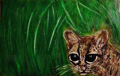 Margay Cat Painting - Margay On The Hunt  by Mario Carta