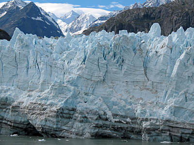 Photograph - Glacier Bay Seascapes. Margerie Glacier Closeup by Connie Fox