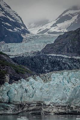 Photograph - Margerie Glacier Meets The Sea by David Halperin