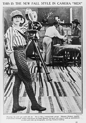 On Set Photograph - Margery Ordway, Woman Cinematographer by Everett