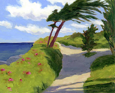 Ogunquit Marginal Way Painting - Marginal Way Path by Mary Byrom