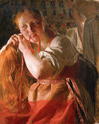 Anders Zorn Painting - Margit by Anders Zorn