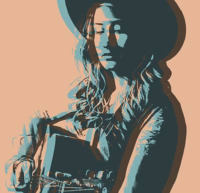 Tennessee. Country Music Digital Art - Margo Price Pop Art Poster by Dan Sproul