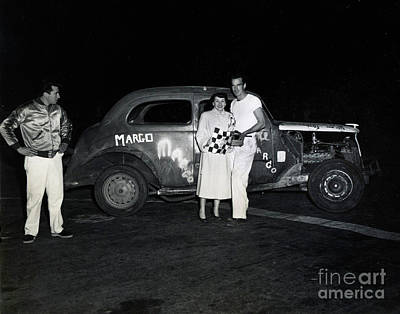 Photograph - Margo Race Car, Salinas Speedway Oct. 25, 1952 by California Views Archives Mr Pat Hathaway Archives