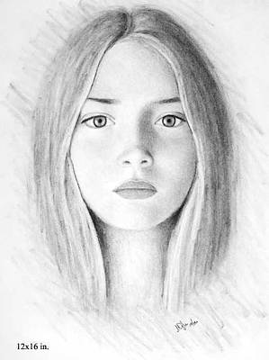 Drawing - Margot by Joseph Ogle