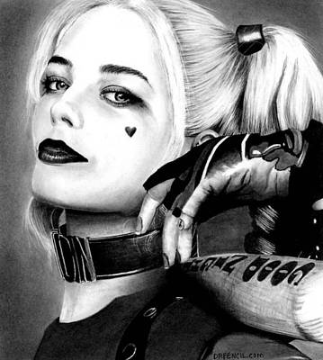 Drawing - Margot Robbie  by Rick Fortson