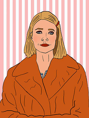 Mixed Media - Margot Tenenbaum by Nicole Wilson