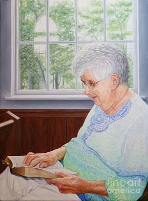 Art Print featuring the painting Margret Lawson by Mike Ivey