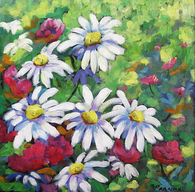Marguerites Painting - Marguerites 001 by Richard T Pranke