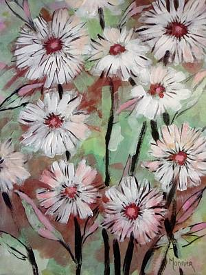 Marguerite Flowers Painting - Marguerites Abstract by Cathy MONNIER