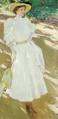 Maria At La Granja, 1907 Art Print by Joaquin Sorolla y Bastida