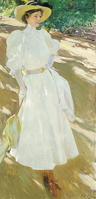 1907 Painting - Maria At La Granja, 1907 by Joaquin Sorolla y Bastida