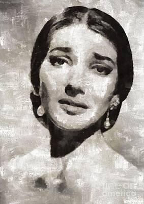 Maria Callas, Soprano Art Print by Mary Bassett