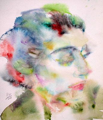 Maria Callas - Watercolor Portrait.5 Original by Fabrizio Cassetta