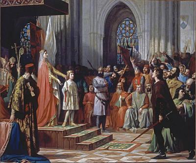 1295 Painting - Maria De Molina Presents Her Son Fernando Iv In The Cortes De Valladolid Of 1295 by Antonio Gisbert
