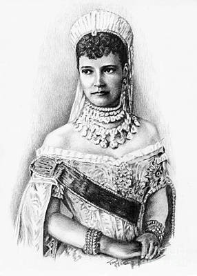 Drawing - Maria Feodorovna by Toon De Zwart