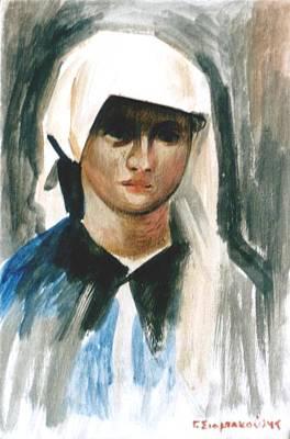 Maria Art Print by George Siaba