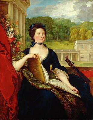 Beckford Painting - Maria Hamilton Beckford by Benjamin West