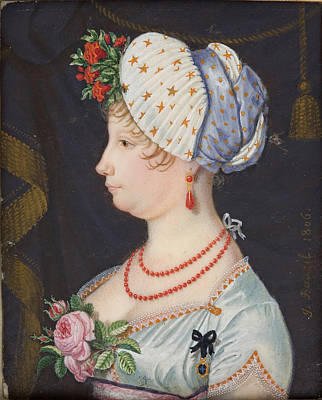 Sicily Painting - Maria Isabella Of Spain  Infanta Of Spain And Queen Of The Two Sicilies by Jean-Jacques Guillaume Bauzil Koc