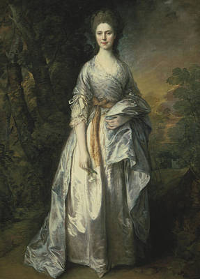 Silk Painting - Maria Lady Eardley, 1766 by Thomas Gainsborough