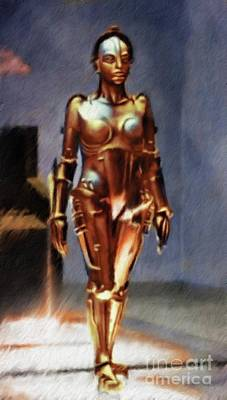 Musicians Royalty-Free and Rights-Managed Images - Maria, Robot From Metropolis by Mary Bassett