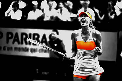 Maria Sharapova 031 Art Print by Brian Reaves