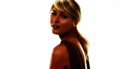 Maria Sharapova 5c Art Print by Brian Reaves