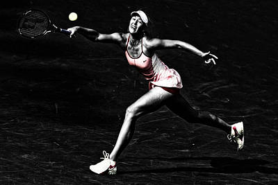 Serena Williams Digital Art - Maria Sharapova Extended by Brian Reaves