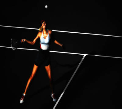Serena Williams Digital Art - Maria Sharapova Focus by Brian Reaves