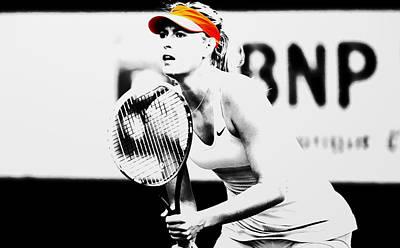 Maria Sharapova Mixed Media - Maria Sharapova Stay Focused 2 by Brian Reaves