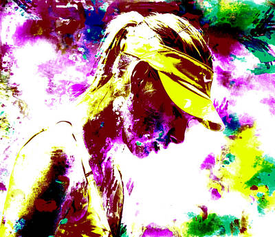 Maria Sharapova Paint Splatter 4c Art Print by Brian Reaves