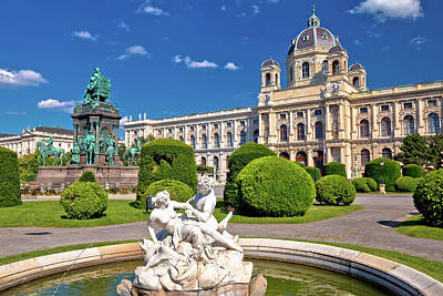 Photograph - Maria Theresien Platz Square In Vienna Architecture And Nature V by Brch Photography