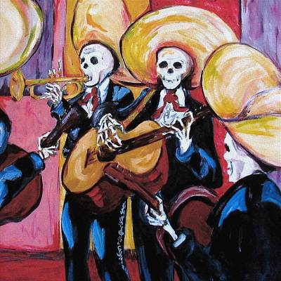 Mexican Art Painting - Mariachi IIi by Sharon Sieben